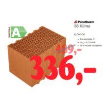 Porotherm 38 Klima tégla akció