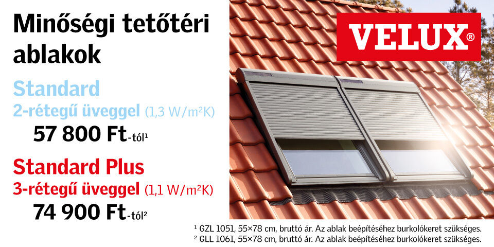 Velux tetőablak akció Micorex tüzép építőanyag Miskolc